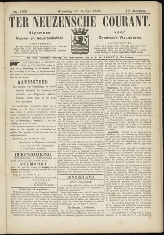 Ter Neuzensche Courant. Algemeen Nieuws- en Advertentieblad voor Zeeuwsch-Vlaanderen / Neuzensche Courant ... (idem) / (Algemeen) nieuws en advertentieblad voor Zeeuwsch-Vlaanderen 1879-10-15