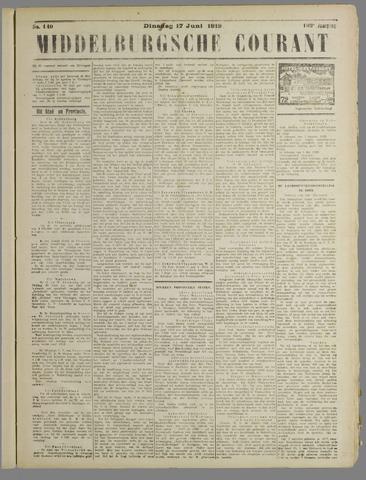 Middelburgsche Courant 1919-06-17