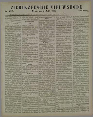 Zierikzeesche Nieuwsbode 1885-07-02