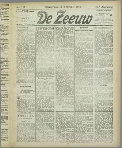 De Zeeuw. Christelijk-historisch nieuwsblad voor Zeeland 1919-02-13