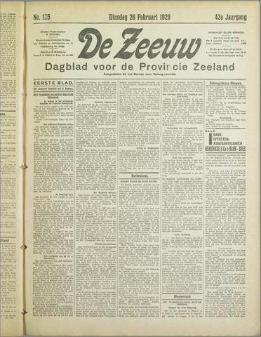 De Zeeuw. Christelijk-historisch nieuwsblad voor Zeeland 1929-02-26
