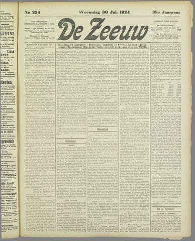 De Zeeuw. Christelijk-historisch nieuwsblad voor Zeeland 1924-07-30