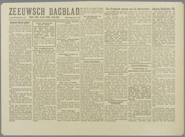 Zeeuwsch Dagblad 1945-07-09