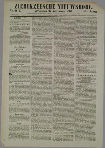 Zierikzeesche Nieuwsbode 1885-12-22