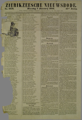Zierikzeesche Nieuwsbode 1889-01-01
