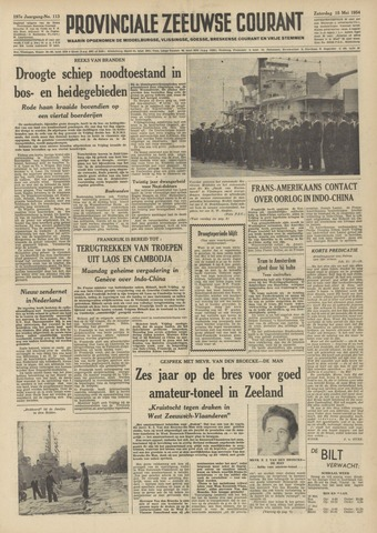 Provinciale Zeeuwse Courant 1954-05-15