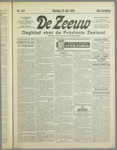 De Zeeuw. Christelijk-historisch nieuwsblad voor Zeeland 1929-07-23