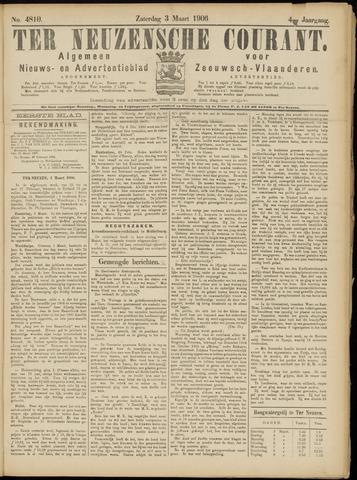 Ter Neuzensche Courant. Algemeen Nieuws- en Advertentieblad voor Zeeuwsch-Vlaanderen / Neuzensche Courant ... (idem) / (Algemeen) nieuws en advertentieblad voor Zeeuwsch-Vlaanderen 1906-03-03