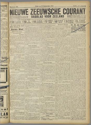 Nieuwe Zeeuwsche Courant 1922-09-16
