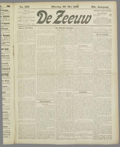 De Zeeuw. Christelijk-historisch nieuwsblad voor Zeeland 1916-05-30