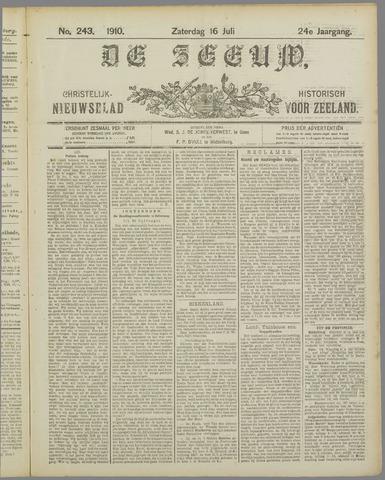 De Zeeuw. Christelijk-historisch nieuwsblad voor Zeeland 1910-07-16