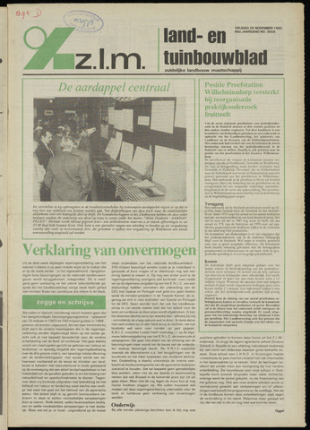 Zeeuwsch landbouwblad ... ZLM land- en tuinbouwblad 1982-11-26
