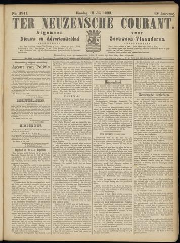 Ter Neuzensche Courant. Algemeen Nieuws- en Advertentieblad voor Zeeuwsch-Vlaanderen / Neuzensche Courant ... (idem) / (Algemeen) nieuws en advertentieblad voor Zeeuwsch-Vlaanderen 1900-07-10