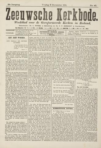 Zeeuwsche kerkbode, weekblad gewijd aan de belangen der gereformeerde kerken/ Zeeuwsch kerkblad 1915-11-05