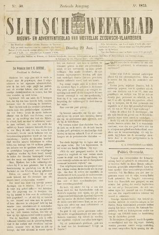 Sluisch Weekblad. Nieuws- en advertentieblad voor Westelijk Zeeuwsch-Vlaanderen 1875-06-29