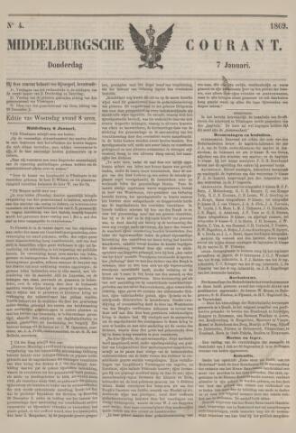Middelburgsche Courant 1869-01-07