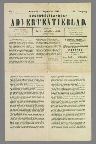 Noord-Bevelands Nieuws- en advertentieblad 1895