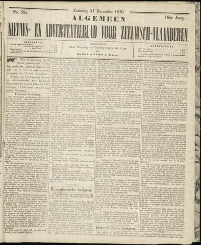 Ter Neuzensche Courant. Algemeen Nieuws- en Advertentieblad voor Zeeuwsch-Vlaanderen / Neuzensche Courant ... (idem) / (Algemeen) nieuws en advertentieblad voor Zeeuwsch-Vlaanderen 1870-12-31