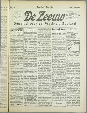 De Zeeuw. Christelijk-historisch nieuwsblad voor Zeeland 1930-06-02