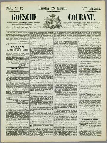 Goessche Courant 1890-01-28