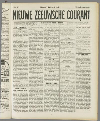 Nieuwe Zeeuwsche Courant 1911-02-07