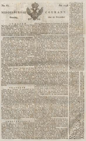 Middelburgsche Courant 1758-11-18