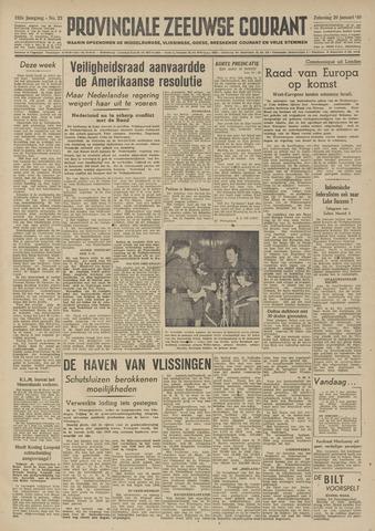 Provinciale Zeeuwse Courant 1949-01-29