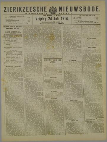 Zierikzeesche Nieuwsbode 1914-07-24