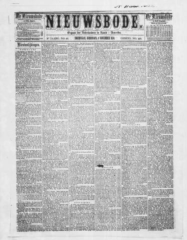 Sheboygan Nieuwsbode 1858-11-09