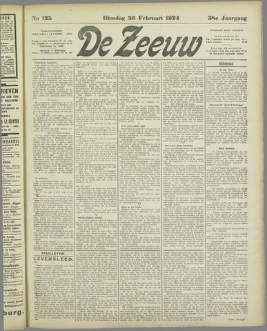 De Zeeuw. Christelijk-historisch nieuwsblad voor Zeeland 1924-02-26
