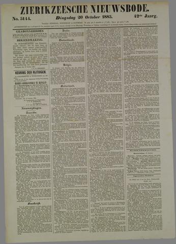 Zierikzeesche Nieuwsbode 1885-10-20