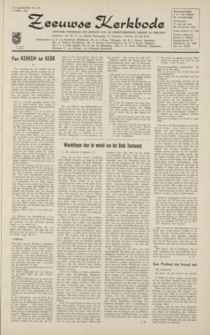 Zeeuwsche kerkbode, weekblad gewijd aan de belangen der gereformeerde kerken/ Zeeuwsch kerkblad 1962-04-06