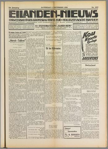 Eilanden-nieuws. Christelijk streekblad op gereformeerde grondslag 1939-12-02