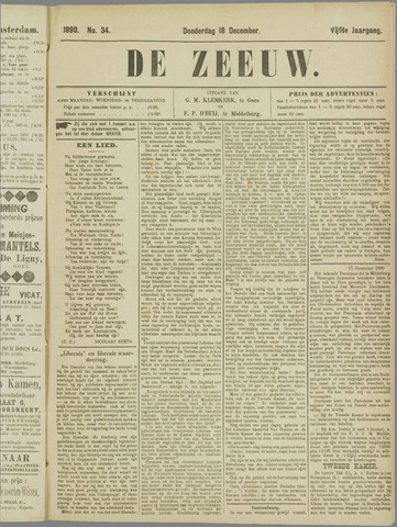 De Zeeuw. Christelijk-historisch nieuwsblad voor Zeeland 1890-12-18