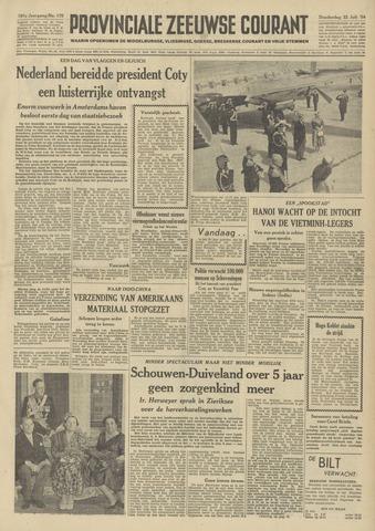 Provinciale Zeeuwse Courant 1954-07-22