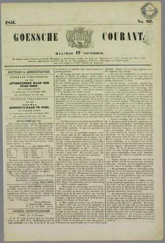 Goessche Courant 1851-11-17