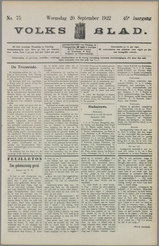Volksblad 1922-09-20