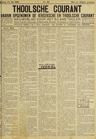 Ierseksche en Thoolsche Courant 1936-07-24