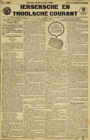 Ierseksche en Thoolsche Courant 1922-12-23