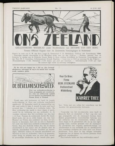Ons Zeeland / Zeeuwsche editie 1927-06-18