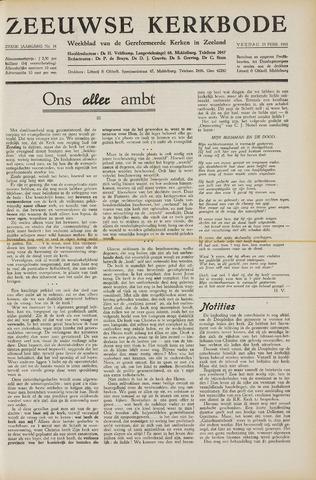 Zeeuwsche kerkbode, weekblad gewijd aan de belangen der gereformeerde kerken/ Zeeuwsch kerkblad 1951-02-23