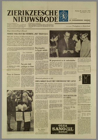 Zierikzeesche Nieuwsbode 1972-09-26
