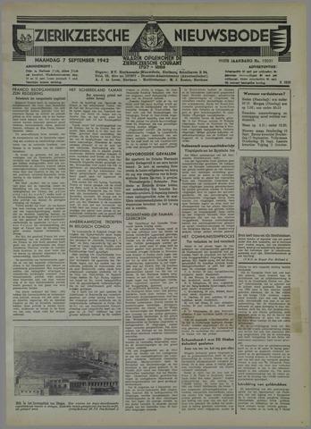 Zierikzeesche Nieuwsbode 1942-09-07