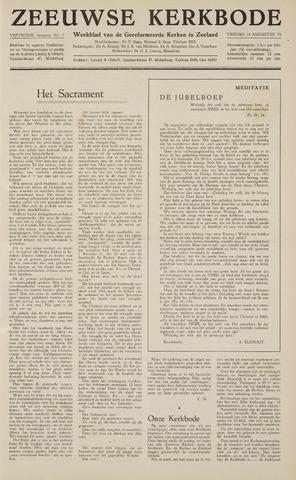 Zeeuwsche kerkbode, weekblad gewijd aan de belangen der gereformeerde kerken/ Zeeuwsch kerkblad 1959-08-14