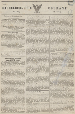 Middelburgsche Courant 1852-01-15