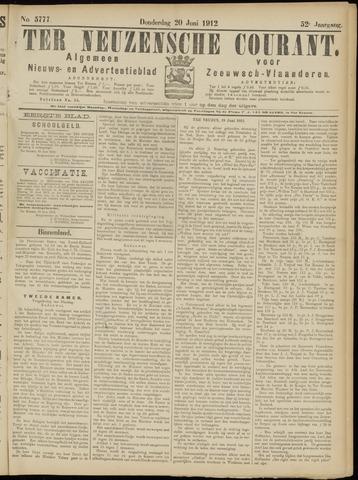 Ter Neuzensche Courant. Algemeen Nieuws- en Advertentieblad voor Zeeuwsch-Vlaanderen / Neuzensche Courant ... (idem) / (Algemeen) nieuws en advertentieblad voor Zeeuwsch-Vlaanderen 1912-06-20