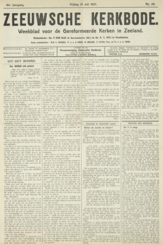 Zeeuwsche kerkbode, weekblad gewijd aan de belangen der gereformeerde kerken/ Zeeuwsch kerkblad 1927-07-15