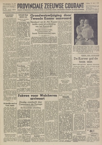 Provinciale Zeeuwse Courant 1948-04-30