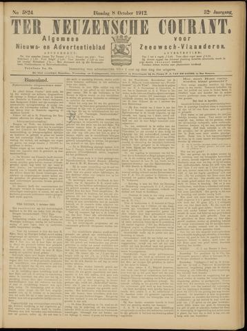 Ter Neuzensche Courant. Algemeen Nieuws- en Advertentieblad voor Zeeuwsch-Vlaanderen / Neuzensche Courant ... (idem) / (Algemeen) nieuws en advertentieblad voor Zeeuwsch-Vlaanderen 1912-10-08