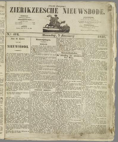 Zierikzeesche Nieuwsbode 1848